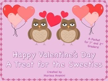 A fun Valentine's Day packet for 1st and 2nd graders!