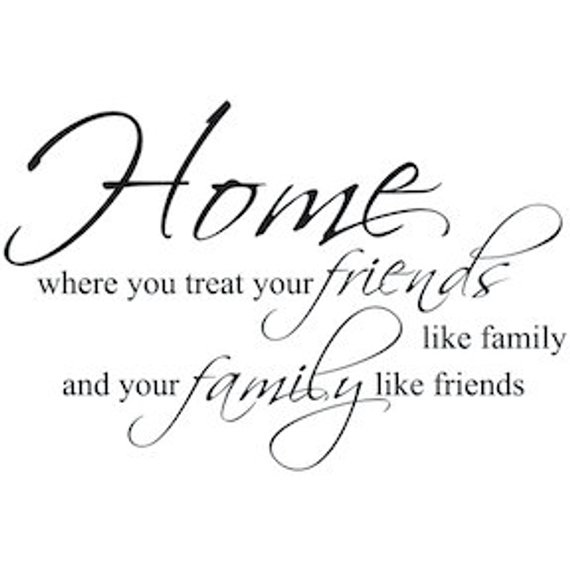 home family friends wall quote house quote sticker house wall