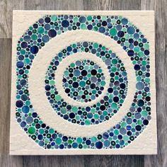 Grand Dessous De Plat Carre En Mosaique De Verre Et Emaux De Briare Mosaique Art De La Mosaique Emaux De Briare