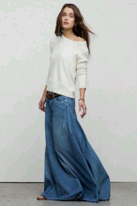 Dakota Love & Haight Denim Maxi Skirt by True Religion on ...