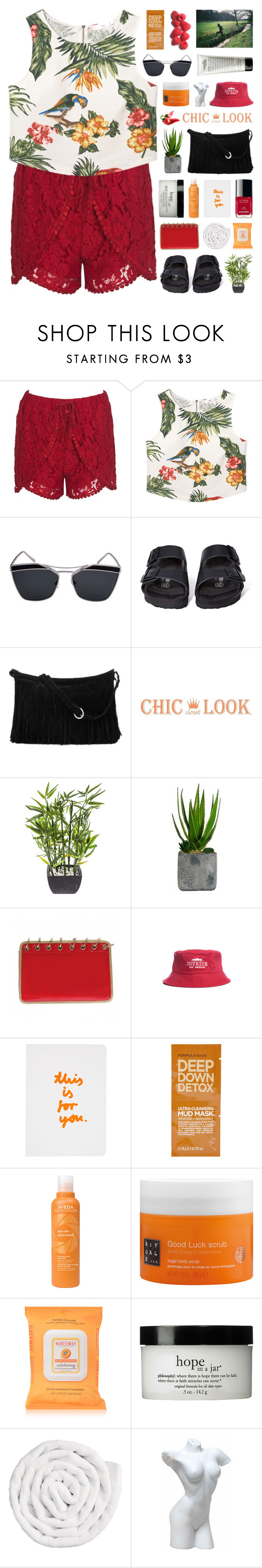 """CHIC LOOK CLOSET"" by novalikarida ❤ liked on Polyvore featuring MANGO, Birkenstock, Laura Ashley, Joyrich, Chanel, Topshop, Aveda, Rituals, Burt's Bees and philosophy"