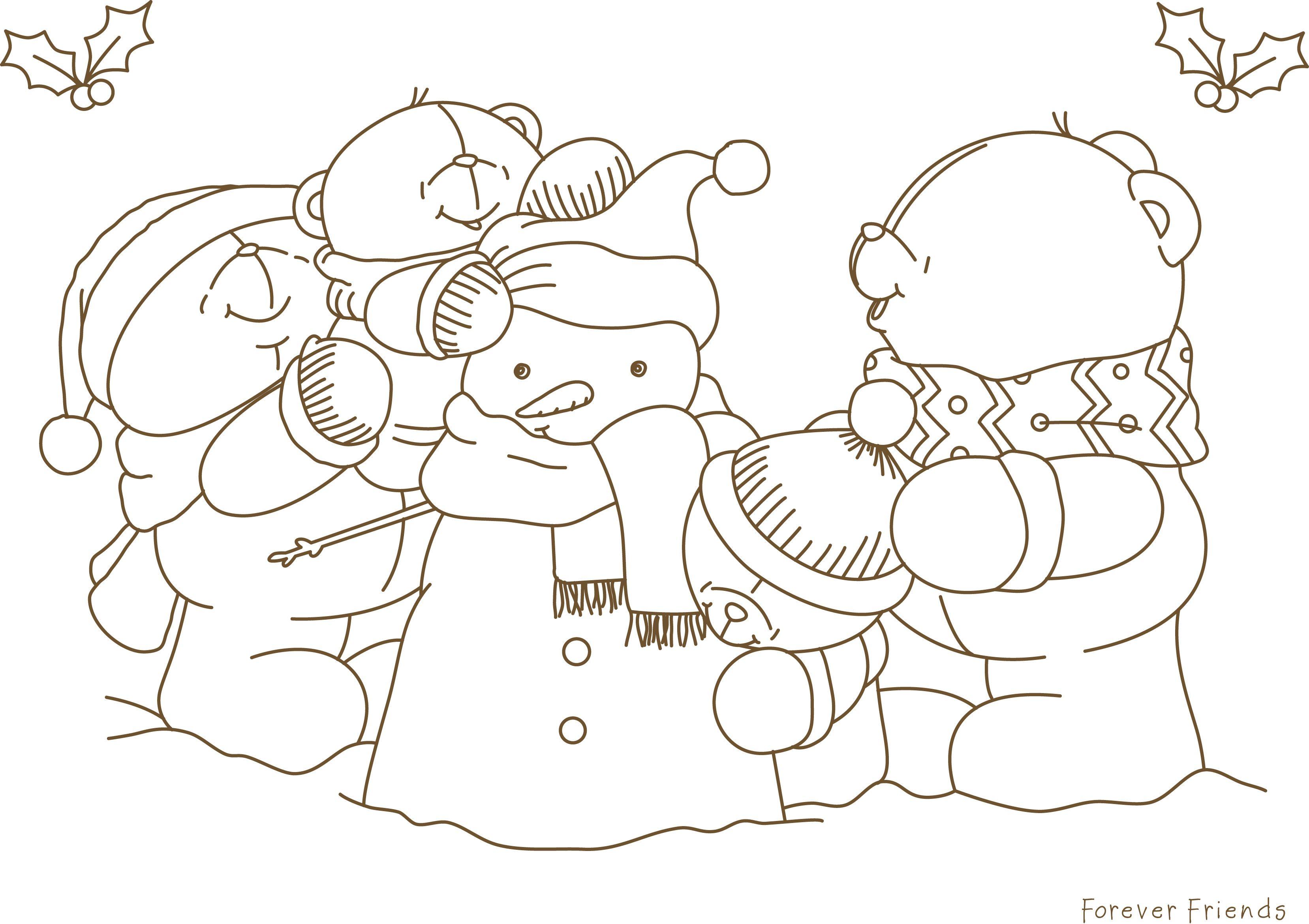 Christmas Snowman Colouring Sheet Jpg 3315 2341