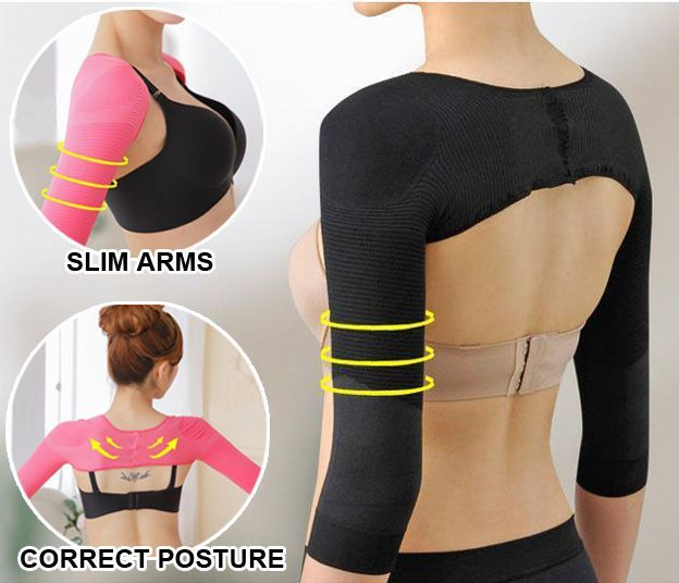 331b3a629a Womens Arm Slimmer Shaper Correct Back Posture Humpback Prevent Girdle  Shapewear