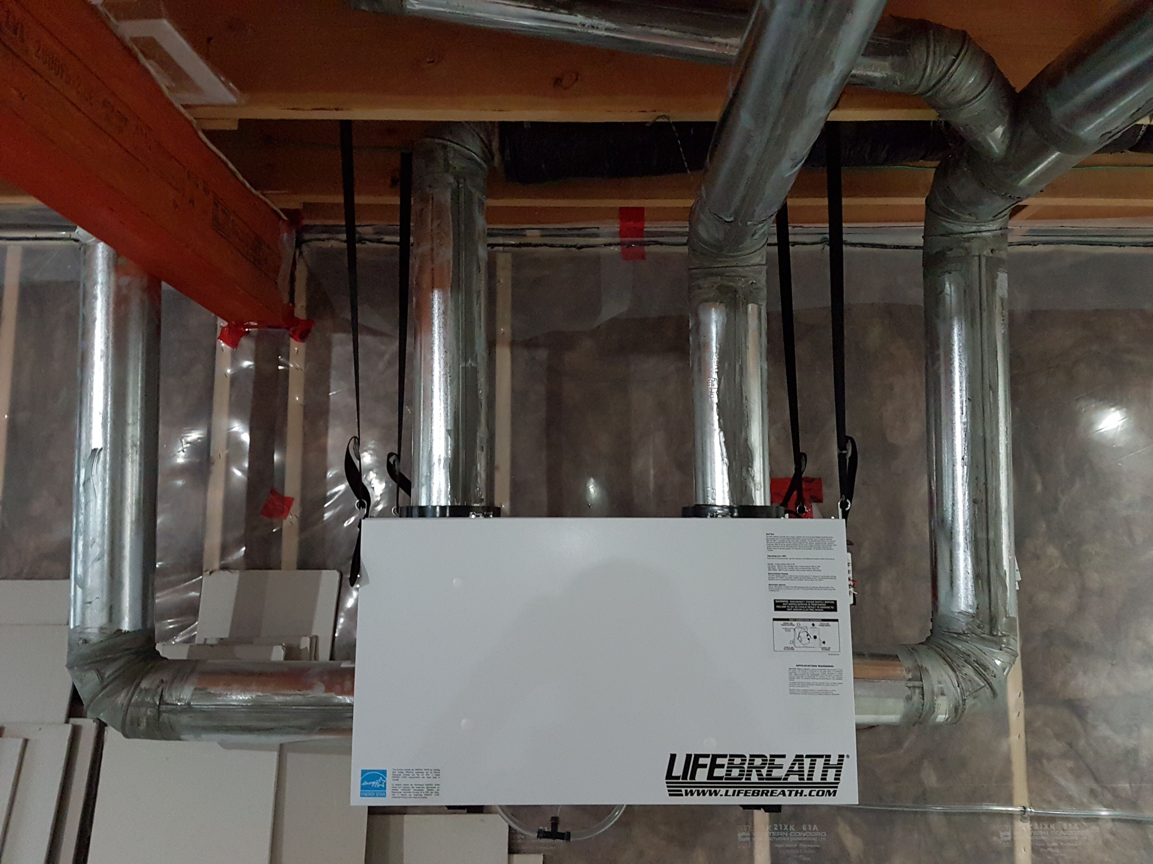Heat Recovery Ventilator Installed By Canadian Aerothermal
