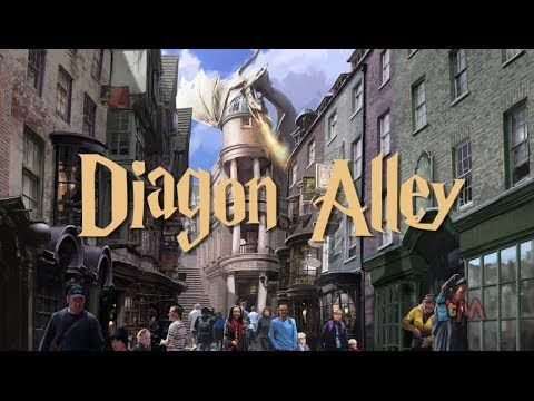 Diagon Alley Art With Escape From Gringotts Ride At Wizarding World Of Har Harry Potter Universal Studios Harry Potter Disney World Harry Potter Theme Park