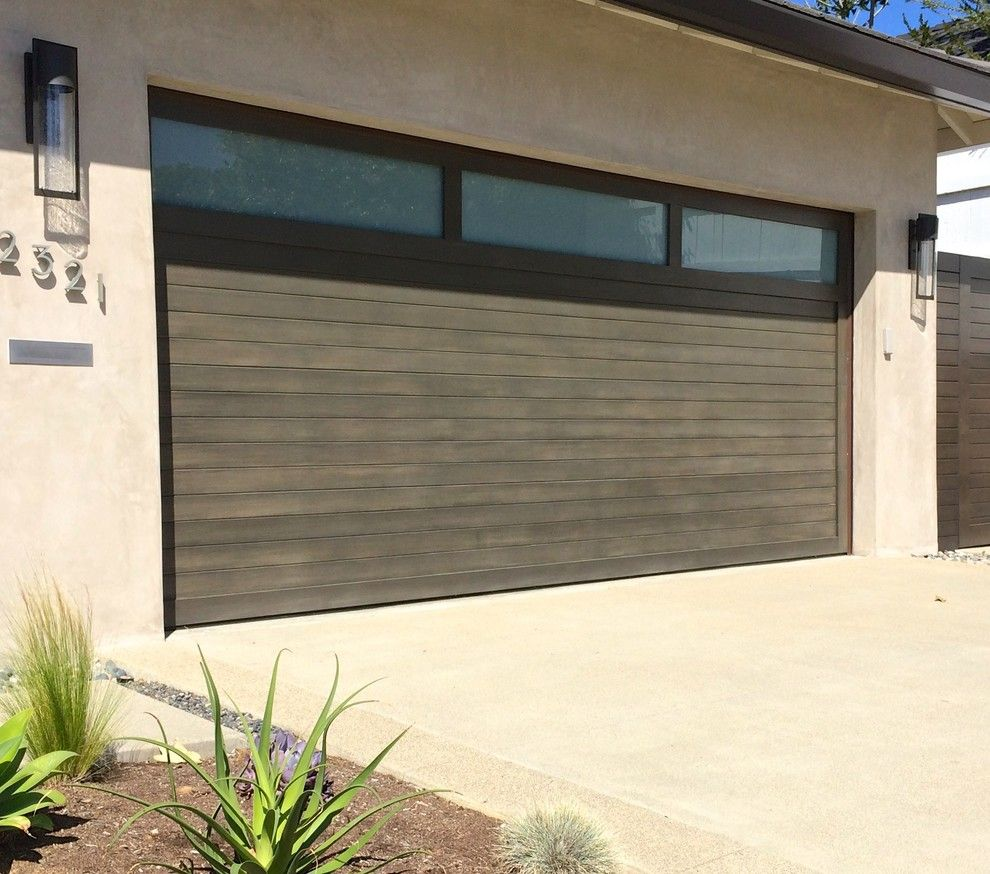Modern garage door glass - Glass Water Dispenser Garage And Shed Contemporary With Contemporary Garage Doors Custom