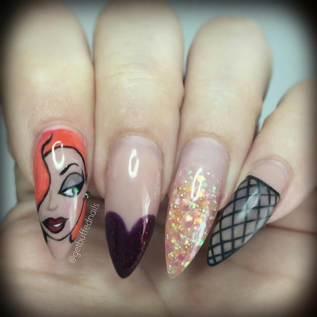 Jessica Rabbit (Nails by GetBuffedNails @Facebook ...
