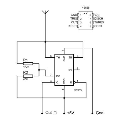 Capacitive proximity detector - ScienceZero | circuits | Pinterest ...
