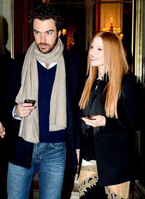Jessica Chastain, Boyfriend Gian Luca Passi de Preposulo Make Rare Appearance Together in Paris: Picture