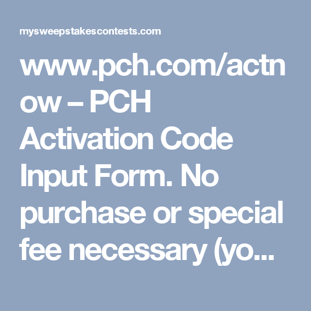 List of Synonyms and Antonyms of the Word: pch actnow