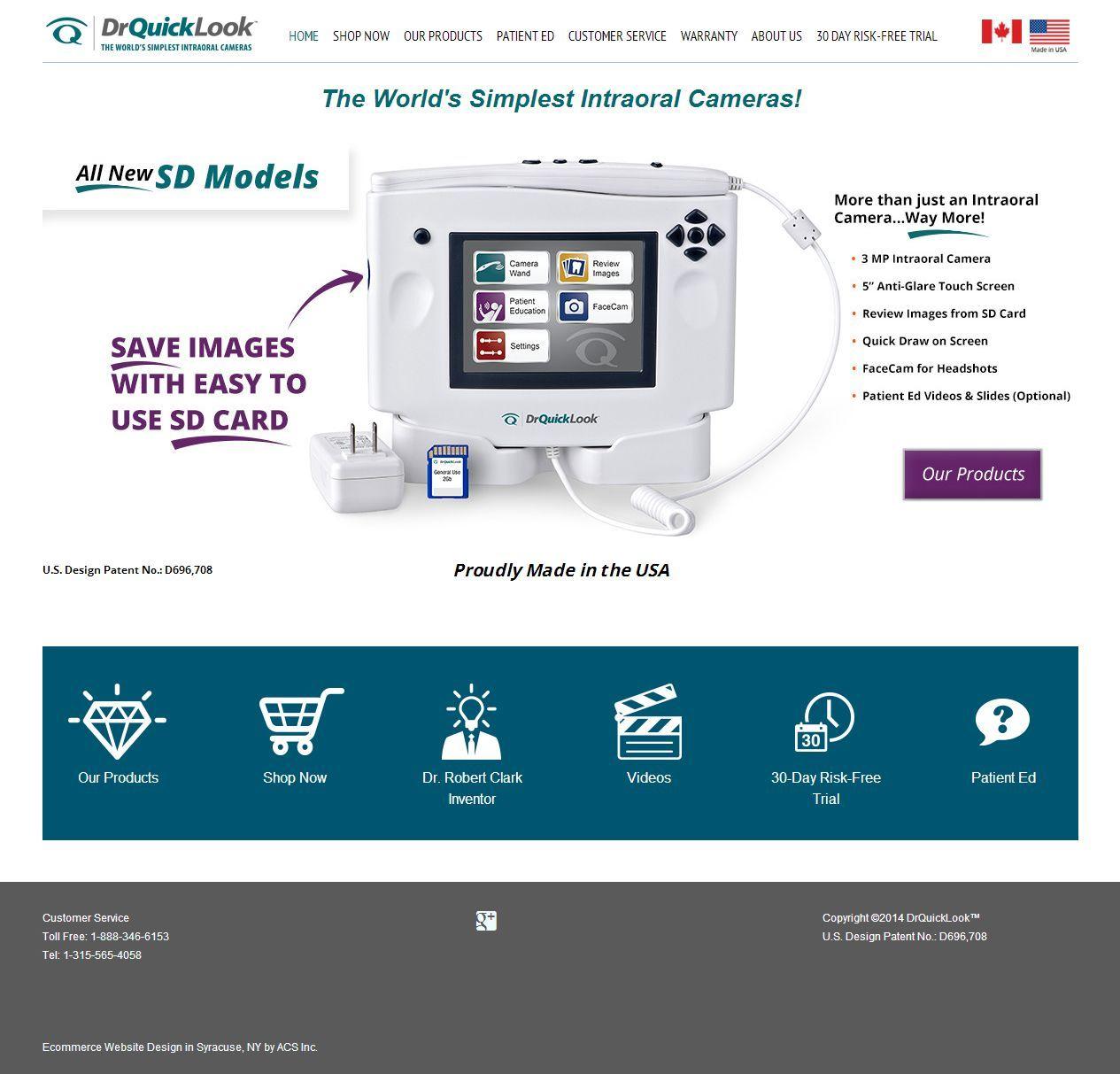 New Responsive Website Design For Drquicklook Com Responsive Design With A Sleek New Look Dentists Love The Medical Website Design Web Design Website Design