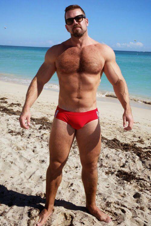 Beach boner speedos bikini cum and free 4