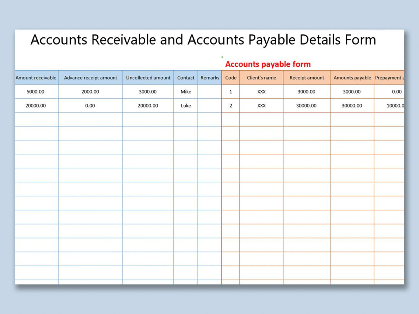 Get Our Image Of Schedule Of Accounts Receivable Template For Free Statement Template Accounts Receivable Accounting