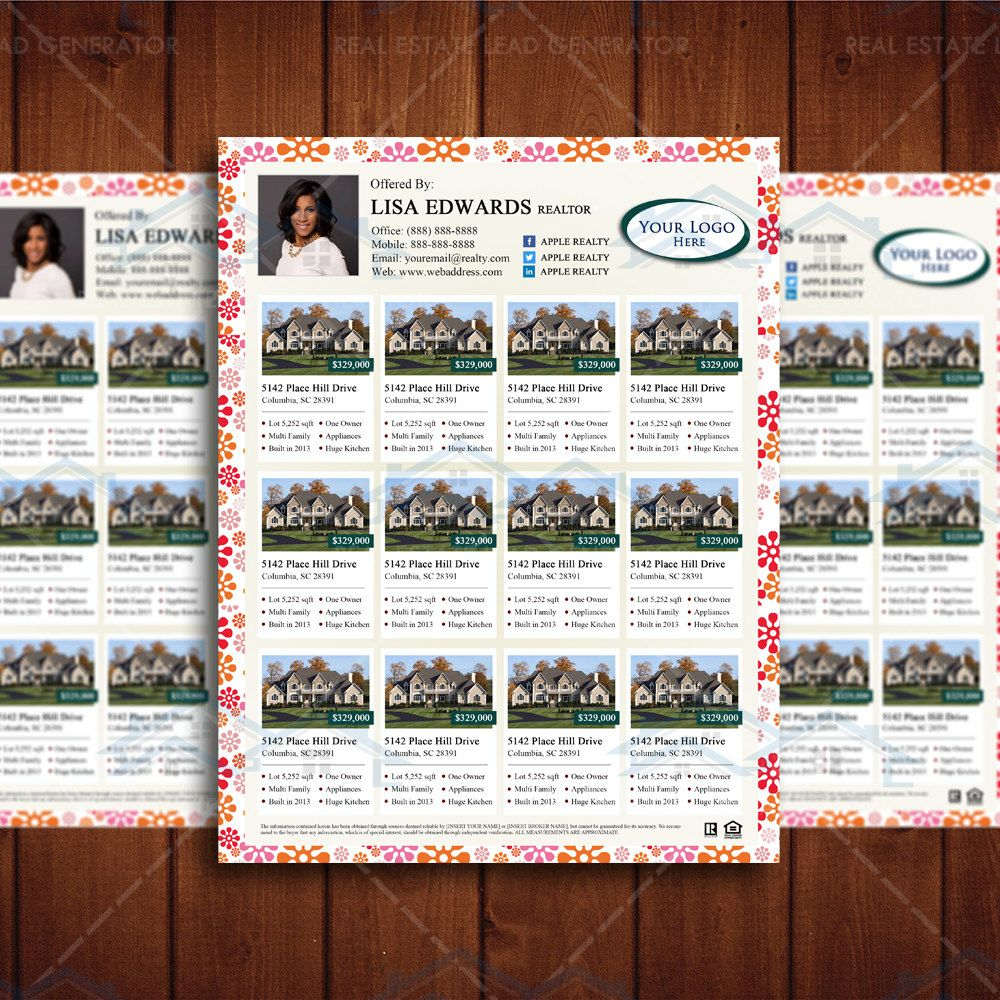 Listing Magazine Template, Real Estate Listing Flyer Template ...