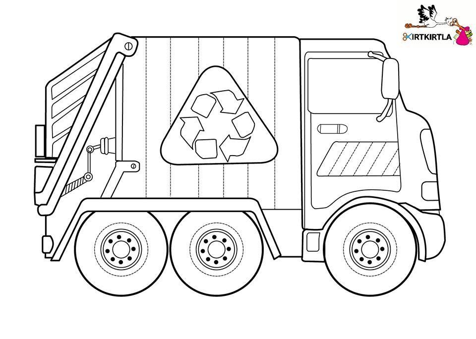 Otomatik Alternatif Metin Yok Geri Dönüşüm Truck Coloring Pages