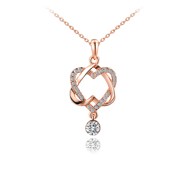 Elegant Heart Pendant In 2019 Rose Gold Pendant Pendant Necklace Diamond Pendant Necklace