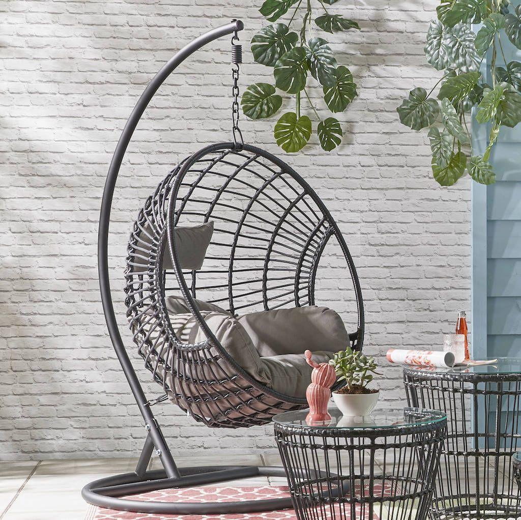 Indoor outdoor hanging egg chair in 2020 hanging egg