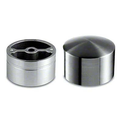 Best 42Mm Stainless Steel Hardwood Handrail End Cap 304 Grade 640 x 480