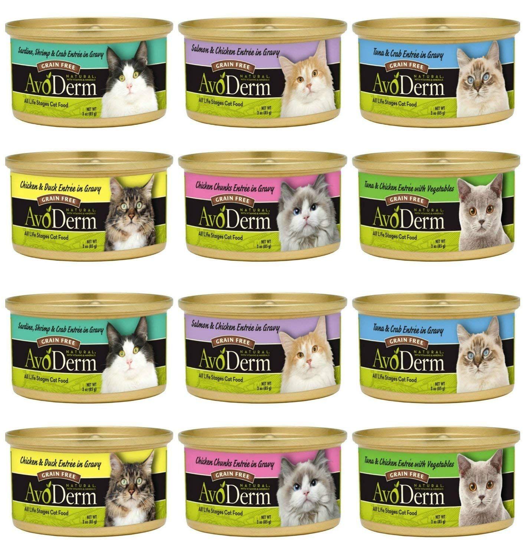 Avoderm Grain Free Cat Food 6 Flavor Variety Bundle 2