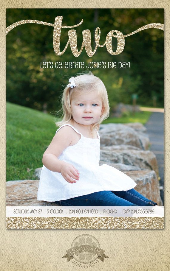 Two Year Old Birthday Invitation