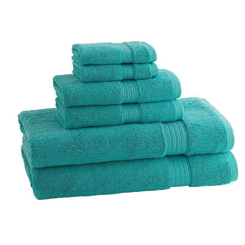 Cassadecor Signature Solid 6 Pc Bath Towel Set Towel Set Bath