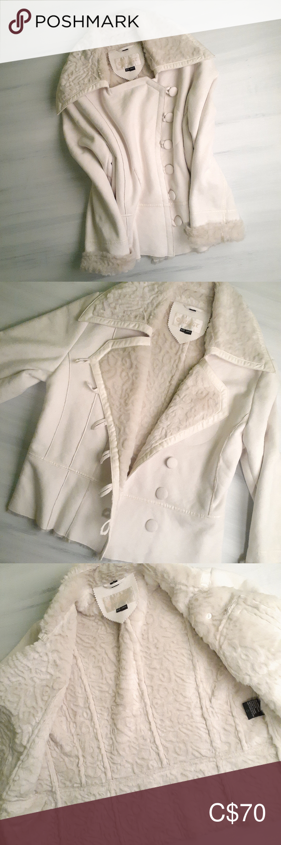Nuage Faux Shearling Fur Coat In Ivory In 2020 Fur Coat Clothes Design Shearling