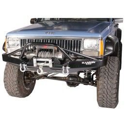 Hanson Offroad Front Bumper With Prerunner Jeep Xj Winch Bumpers Jeep Xj Mods