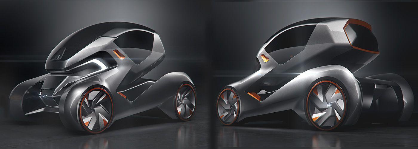 Nissan Coo Concept On Behance Concept Car Design Futuristic Cars Car Design Sketch