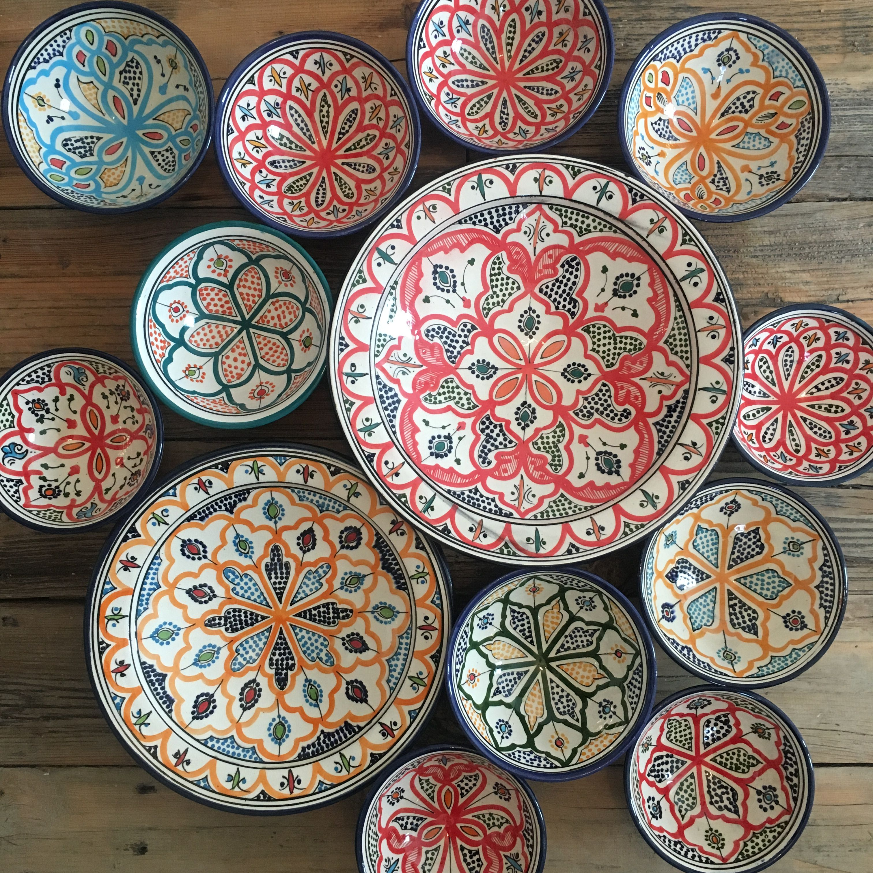 Moroccan plates & Moroccan plates | Abode | Pinterest | Moroccan Pottery and Tableware