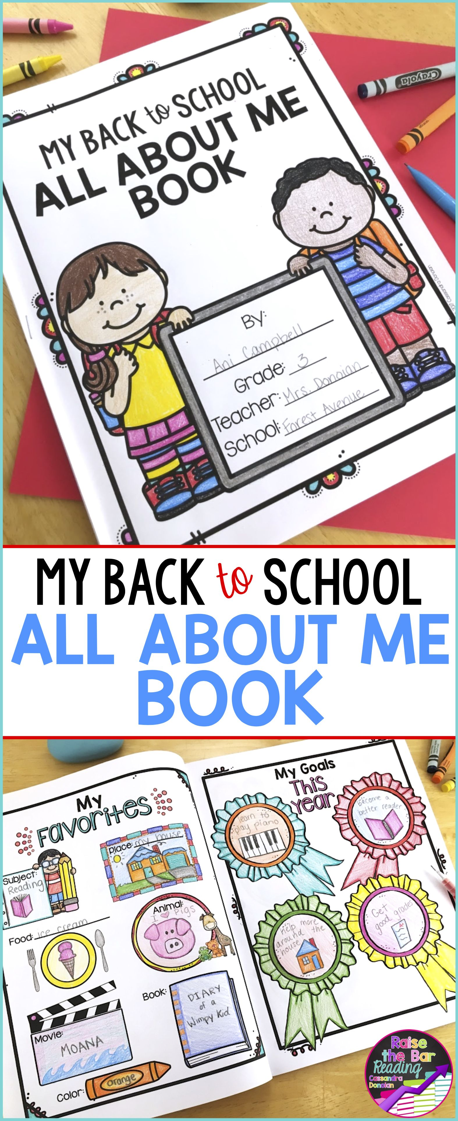 All About Me Activities Back To School All About Me Book