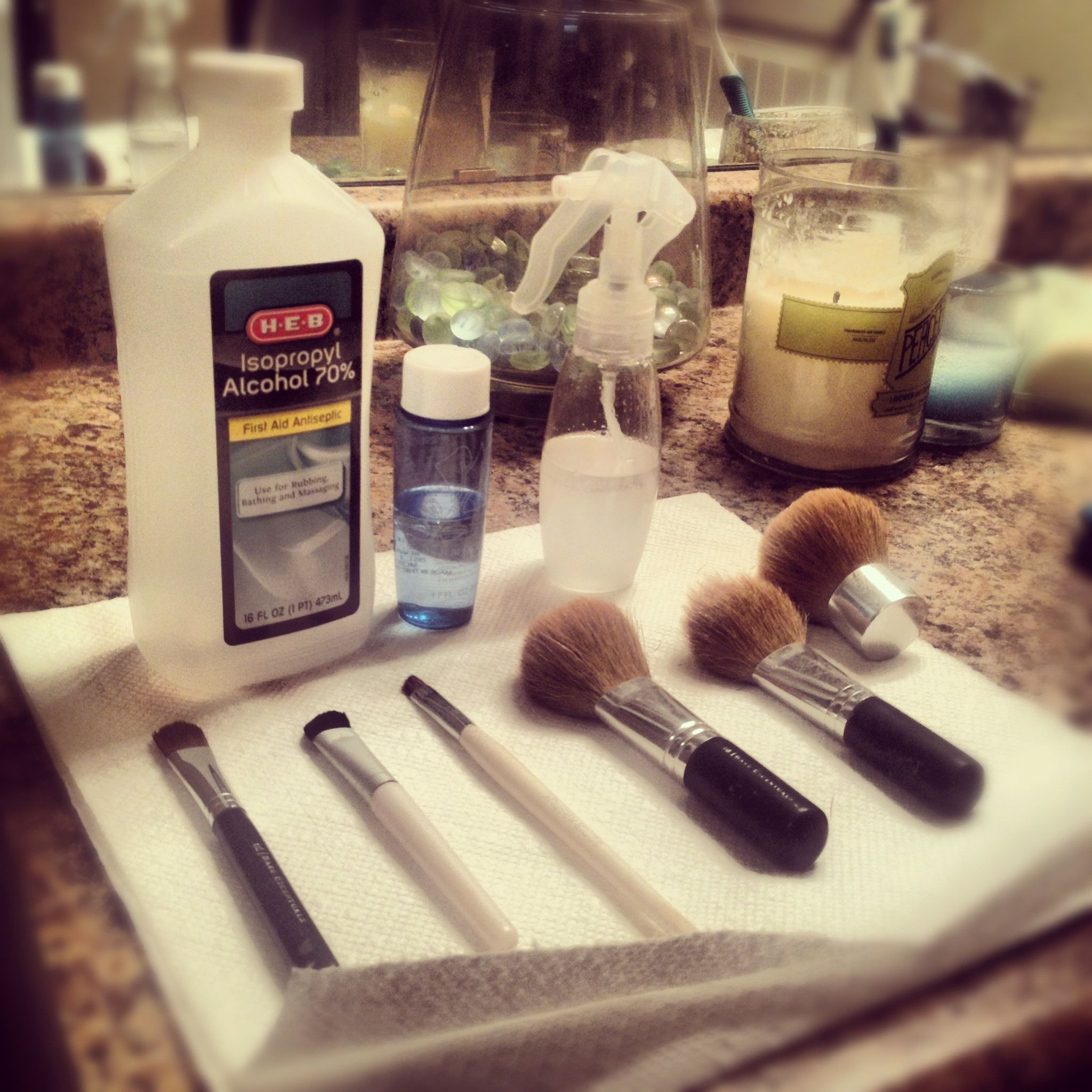 How to make old brushes new... Equal parts h2o + eye makeup ...
