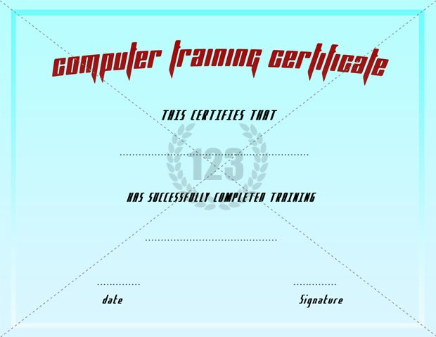 Short and long term computer training certificate templates short and long term computer training certificate templates certificate templates yelopaper Gallery