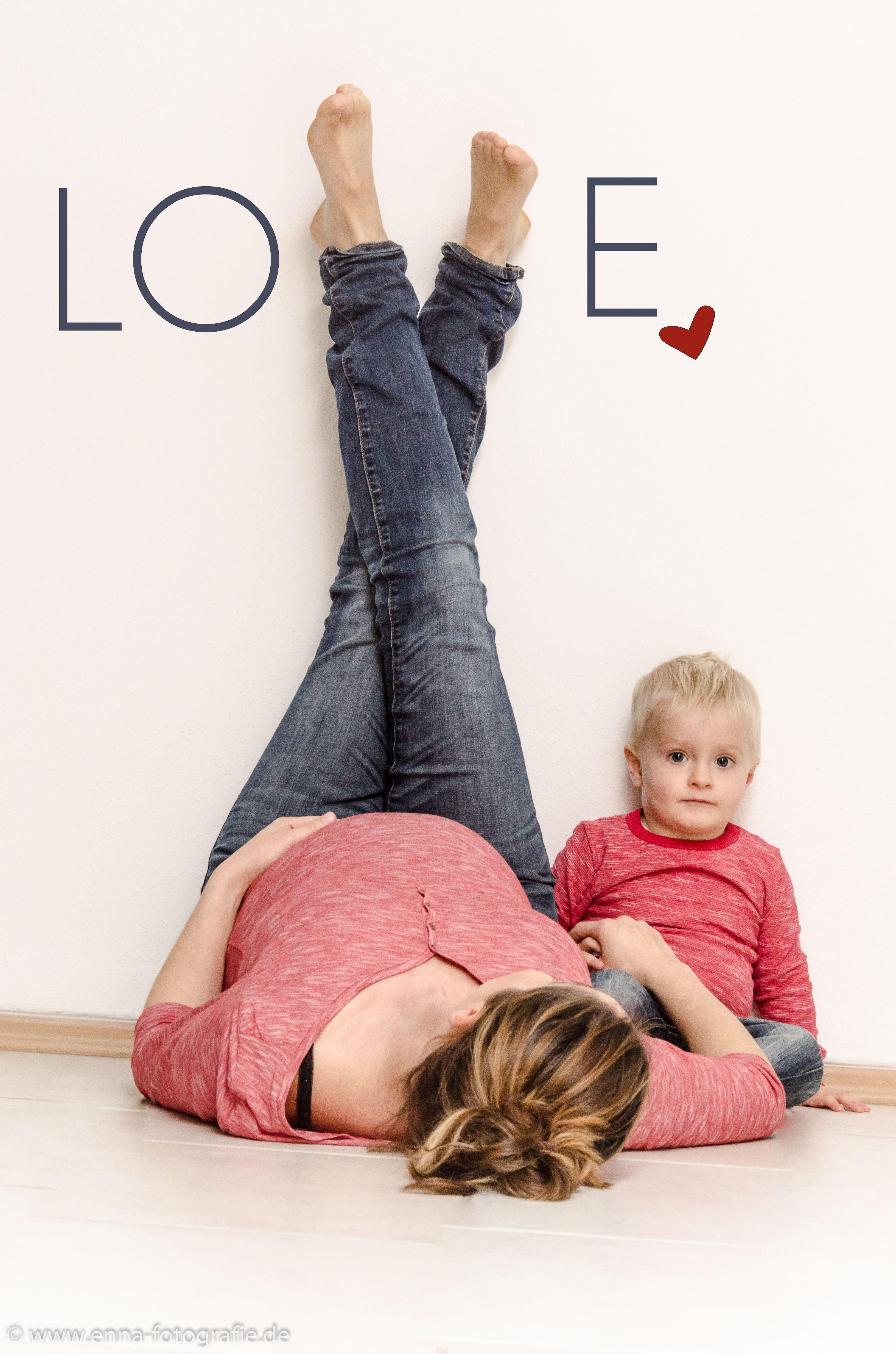 Babybauch LOVE Geschwisterkind | Babybauch