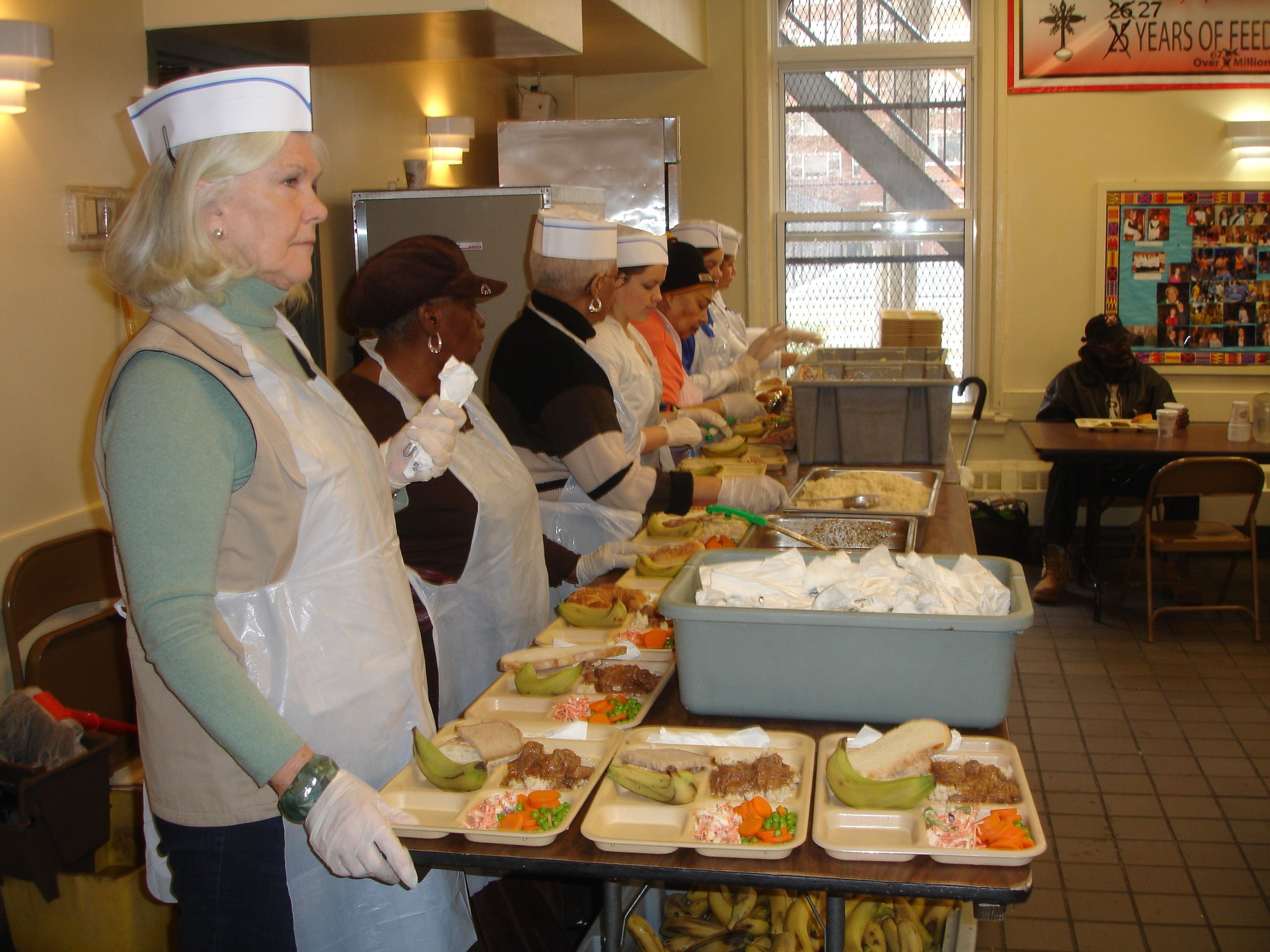 volunteers at holy apostles soup kitchen we rely on 40 50