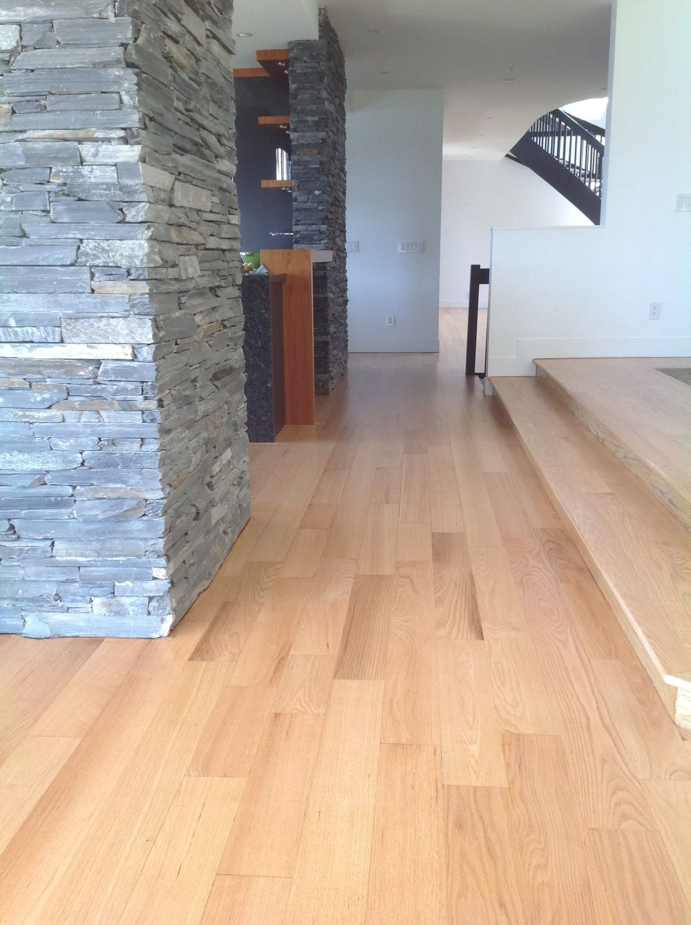 Red Oak Refinishing with Natural Waterbased Finish Red