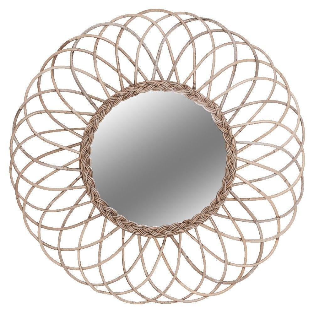 Miroir En Verre Et Rotin Naturel Gifi 511824x Miroirs En Verre Miroir Mural Design Miroir Deco