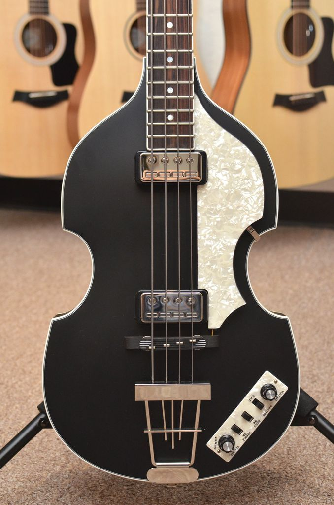 Hofner Ct 500 1 Violin Bass Satin Black W Case Pre Owned Bass Bass Guitar Music Guitar