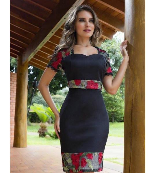 c3e9a1827 600250 - Vestido Valentina - Floratta Modas Trajes Elegantes