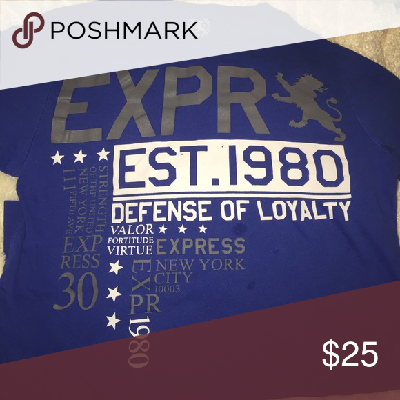 Young man Express t-shirt The cotton T-shirt pictured above is an express man cotton T. it also fits a boy size 14 or 16. It is a fitted T the size pictured is an XXS/TTP Express Shirts Tees - Short Sleeve