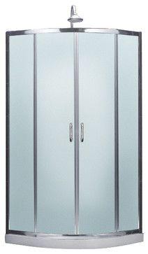 Prime Frameless Sliding Shower Enclosure U0026 Slim Line Quarter Round Shower  Floor Contemporary Shower