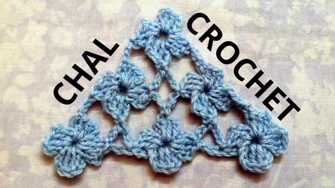Como tejer un Chal en tejido crochet con Punto Margarita tutorial ...