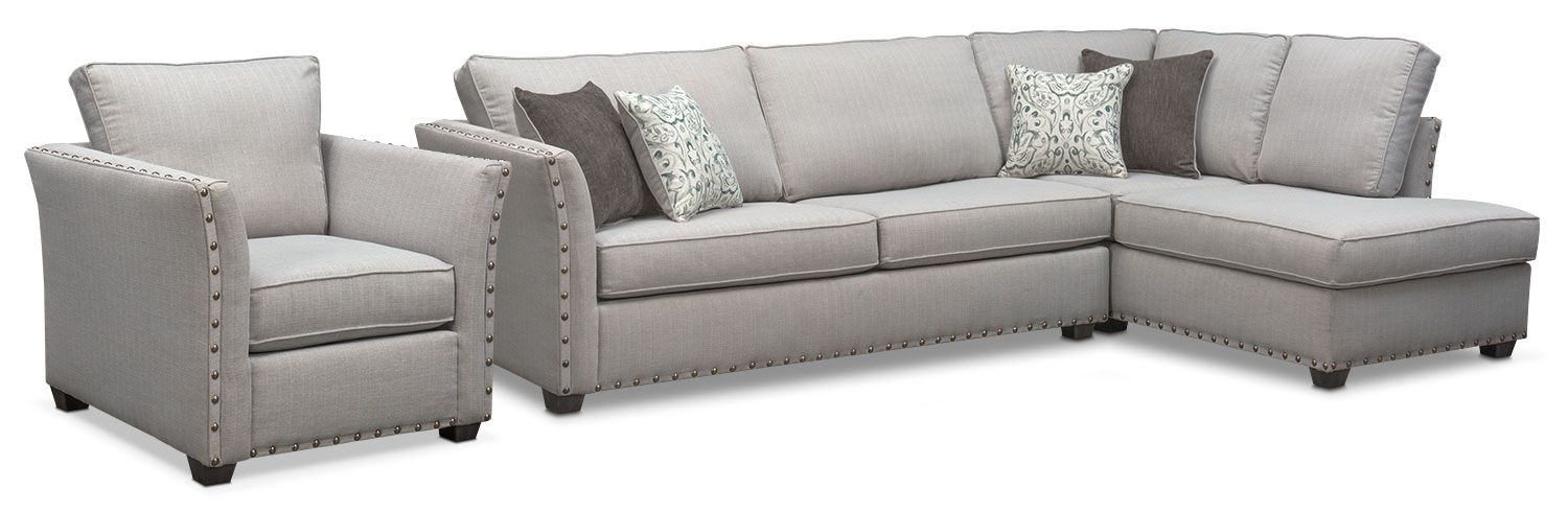Mckenna 2 Piece Queen Sleeper Sectional And Chair Set Sectional