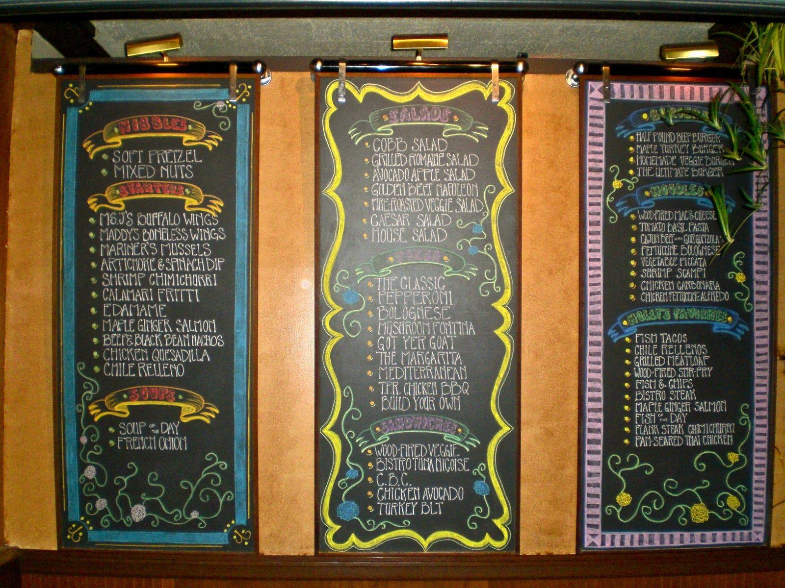 Restaurant Chalkboard Art | Chalkboard Art! | chalk boards ...
