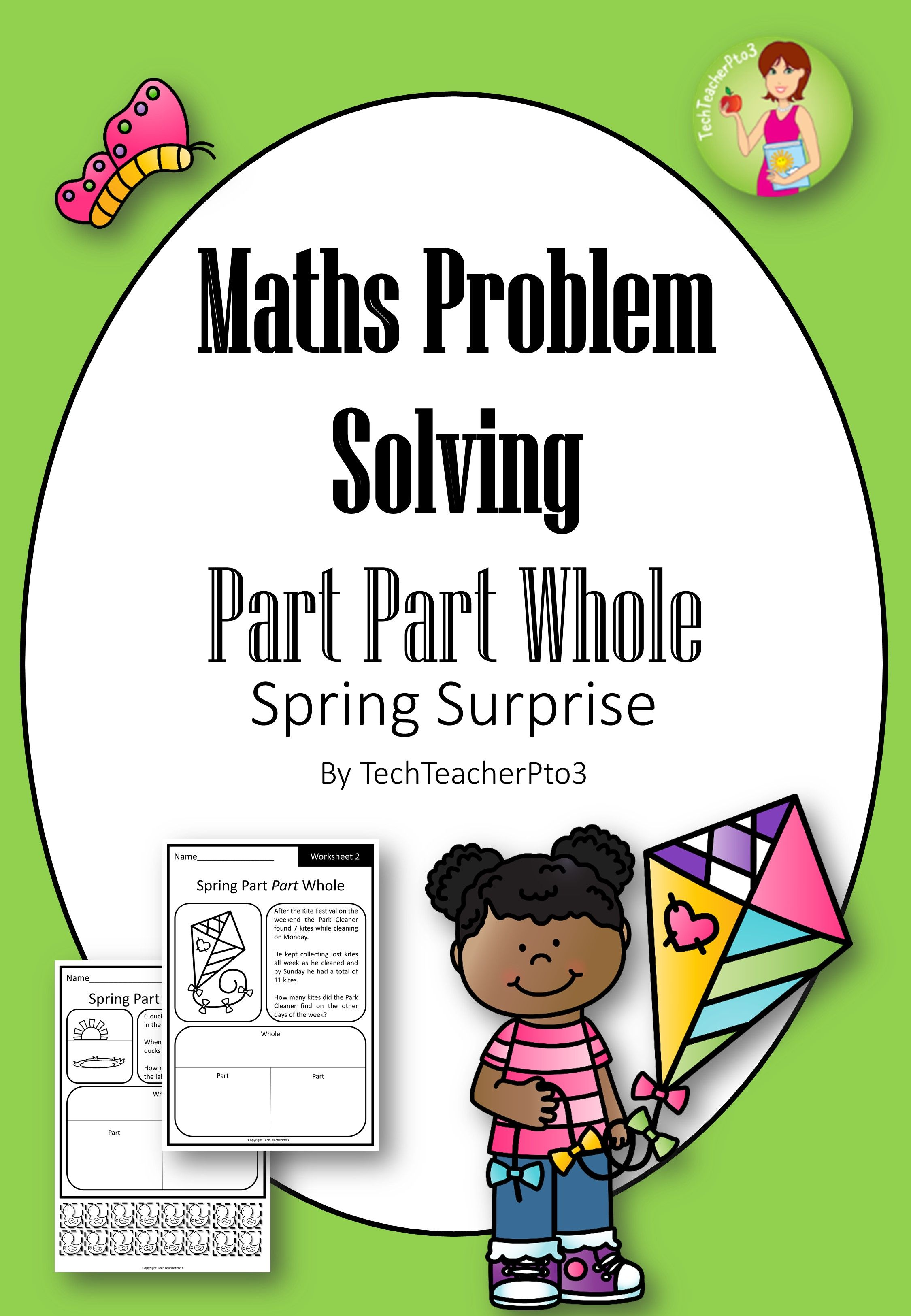 Spring Math Problem Solving Part Part Whole Strategy With