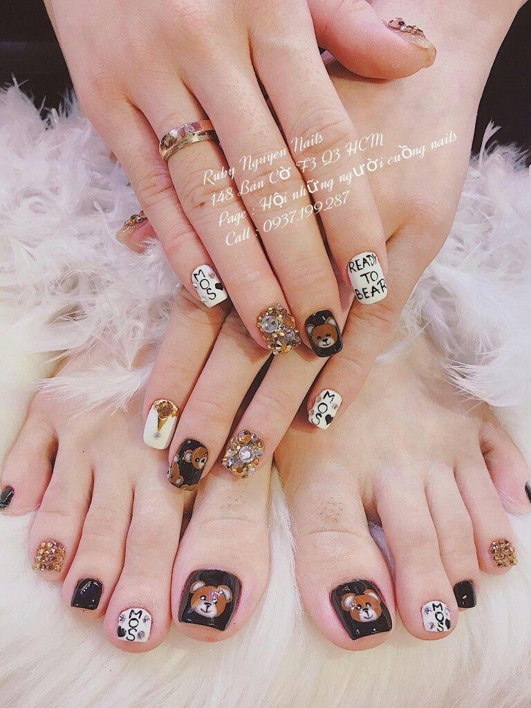 Pin By Navi Ngn On Nail Chn Pinterest Nail Art 3d Feet Nails