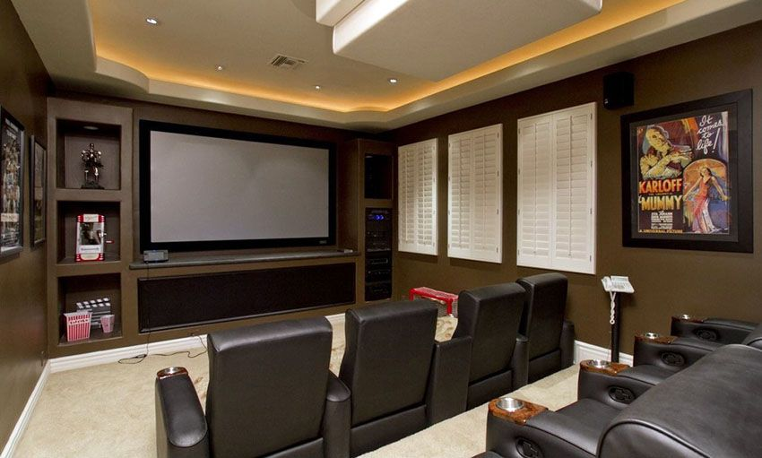47 Cool Finished Basement Ideas Design Pictures Home Theater