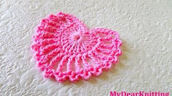 How to Crochet a - Trio of Perfect Little Hearts - YouTube