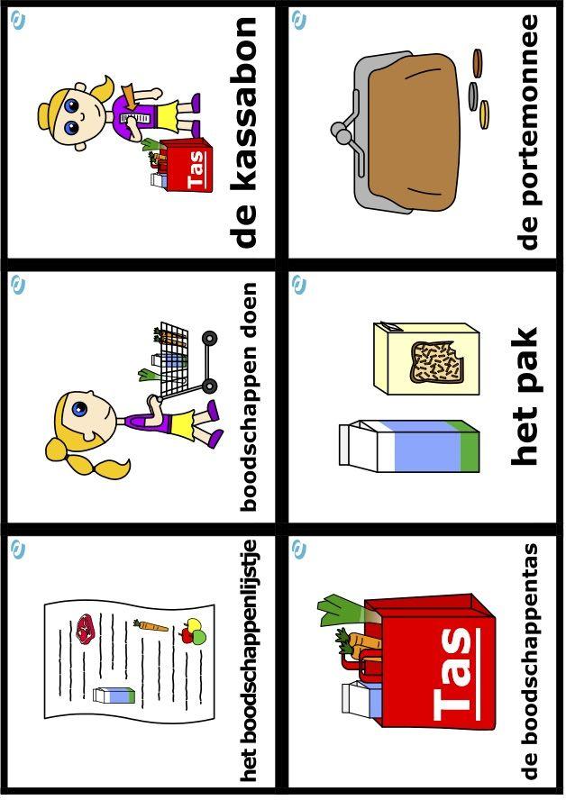 woordkaarten uk en puk thema eet smakelijk eten en
