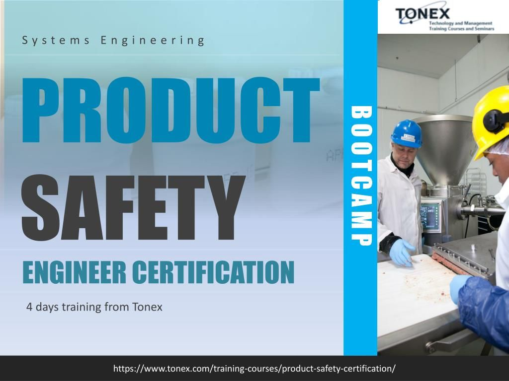 Product Safety Engineer Certification Bootcamp By Tonex Training