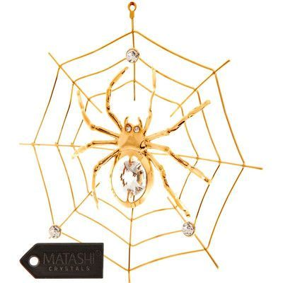 MatashiCrystal Spider on Web Ornament